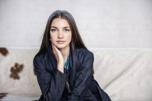 Model Portfolio shoot by Birmingham photographer Paul Ward model Hannah